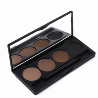 Eyeshadow Eye Brow Makeup 4 Colour Eyebrow Powder Palette With Double Ended Brush Eye Shadow Make Up Kit Set Chocolate