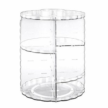 Gosear Makeup Organizer Rotating Detachable Clear Cosmetic Makeup Organizer Holder for Bathroom Bedroom