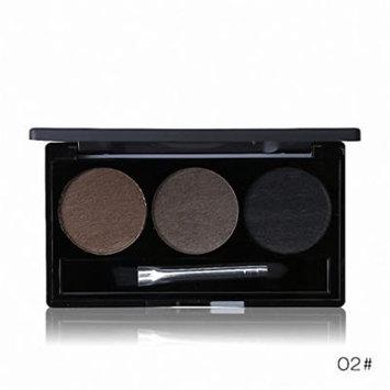 Waterproof Eye Brow Enhancer Palette 3 Color Eyebrow Powder Shaping Make Up Brush With Mirror Eye Makeup Cosmetics Set 02