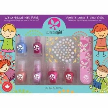 Non Toxic Nail Polish Kit for Kids with Water Based Nail Polish, Mini Mani
