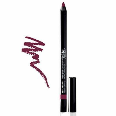Jolie Cosmetics Waterproof Gel Lip Liner - Super Smooth, Extra Long-Wear (Blackberry)