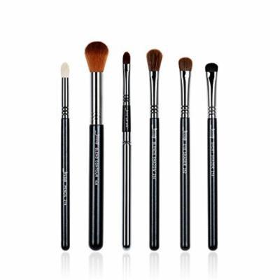 6pcs Makeup Brushes Sets Black/Silver beauty Tools Make Up Brushes Kit Pencil Eye Shader Blend Contour Shadow Lip