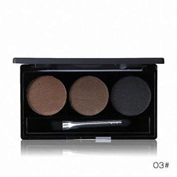 Waterproof Eye Brow Enhancer Palette 3 Color Eyebrow Powder Shaping Make Up Brush With Mirror Eye Makeup Cosmetics Set 03