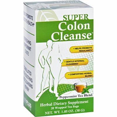 2 Pack of Health Plus Tea - Super Colon Cleanse - Peppermint - 20 Bags-Wellness Teas