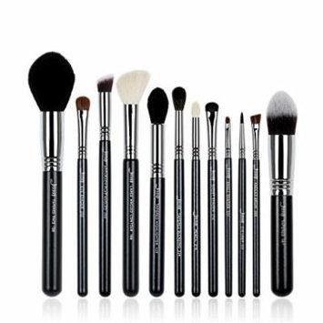 12Pcs Makeup Brush Set Kabuki Foundation Contour EyeShader Blend Brow Powder Make Up Brushes Tool