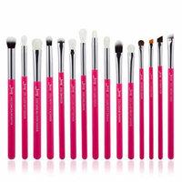 Silver Professional Makeup Brushes Set Make up Brush Tools kit Eye Liner Shader natural-synthetic hair
