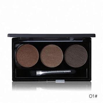Waterproof Eye Brow Enhancer Palette 3 Color Eyebrow Powder Shaping Make Up Brush With Mirror Eye Makeup Cosmetics Set 01