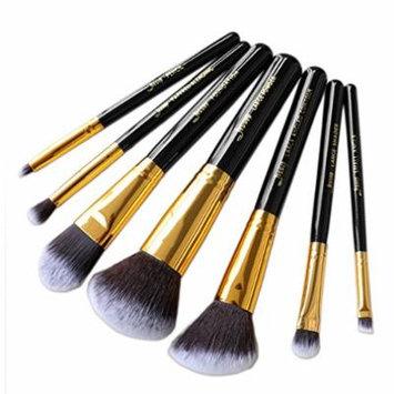 7pcs Makeup brushesTools Black/Gold Beauty Make up brush sets Cosmetic Kit Eyeshadow Foundation wood blusher Powder