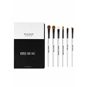 RealHer EYE BRUSH SET- Apply Shadow and Liner with Percision and Accuracy with this 6 Brush Kit
