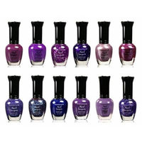 Kleancolor Assorted Nail Polish 6pc Set Selection (Pastel, Metallic, Blue, Pink, Neon, And Purple) (PURPLE, 12 PIECES)