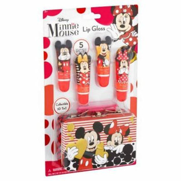 Minnie Mouse Lip Gloss 5 piece with 3D Tin Set