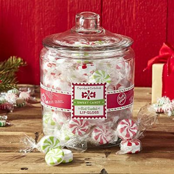 Cupcakes & Cartwheels Mint-Scented Christmas Candy Lip Gloss -Set of 3
