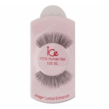 (PACK OF 6) ICE 100% HUMAN HAIR FALSE EYELASHES #105BL