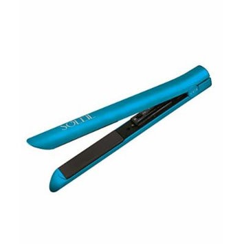 Soleil Metallic Rubberized Hair Straightener Tiffany Blie