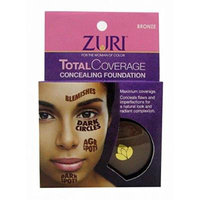 (PACK OF 6) ZURI COSMETICS TOTAL COVERAGE CONCEALING FOUNDATION #BRONZE