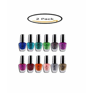 PACK OF 2 - SHANY Glitter Collection Nail Polish Set, 12 count