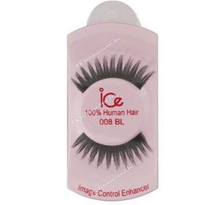 (PACK OF 6) ICE 100% HUMAN HAIR FALSE EYELASHES #008BL