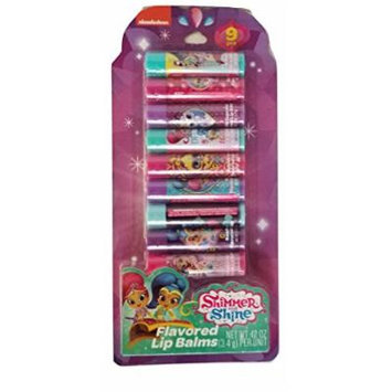 Flavored Lips with Nickelodeon Shimmer and Shine Lip Balms Nine(9) Piece Gift Set