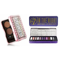 W7 Holiday Kit: In The Night Smokey Shades Eye Colour Palette Tin, 12 Eye Shadows + Brow Parlour The Complete Eyebrow Grooming Kit + FREE Curad Dazzle Bandages, 25 Ct.