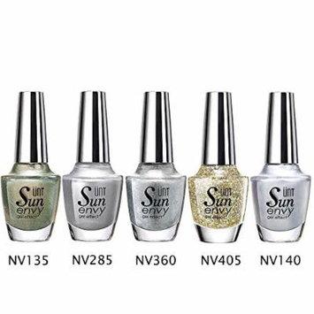 UNT 5 Pcs Gel Effect Nail Lacquer, No UV/LED Light Needed, Quick Dry Nail Polish, 15ml/0.5oz Each W Free Gift (Set7)