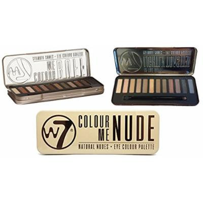 W7 Holiday Kit: Colour Me Buff + Lightly Toasted + Colour Me Nude Natural Nudes Eye Colour Palette Tin, 36 Eye Shadows + FREE Curad Bandages, 8 Ct.