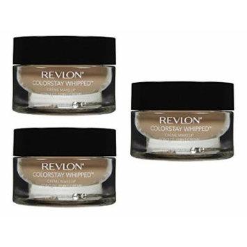 Revlon Colorstay Whipped Crème Makeup, 330 True Beige(Pack of 3) + FREE Makeup Blender Sponge