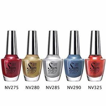 UNT 5 Pcs Gel Effect Nail Lacquer, No UV/LED Light Needed, Quick Dry Nail Polish, 15ml/0.5oz Each W Free Gift (Set2)