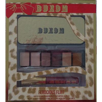 BUXOM Ferocious Flirt 6 Piece Eye Shadow Palette & Full Size Plumping Lip Polish in Victoria