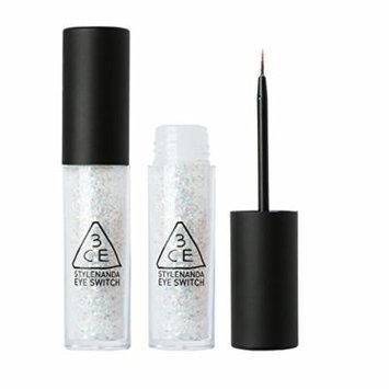 3CE Silver Glitter WhiteLong Lasting Waterproof Sparkling Eyeliner ,0.2oz