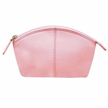 ILI Leather Cosmetic/Makeup Pouch One Size Pastel Pink