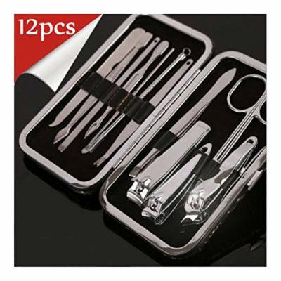New 12pcs Professional Nail Care Pedicure Manicure Set Cuticle Clipper Kit White