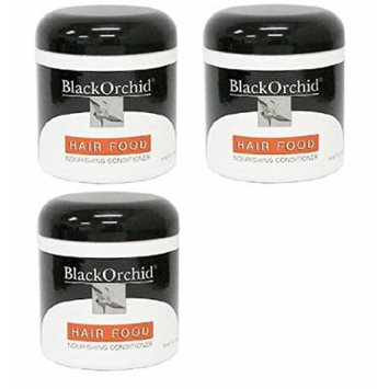 Black Orchid Hair Food Nourishing Conditioner, 7 Oz (Pack of 3) + FREE Curad Dazzle Bandages, 25 Ct.