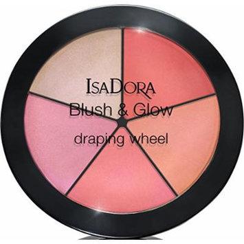 IsaDora Blush & Glow Drapping Wheel Palette 18g (56 Coral Pink Pop)