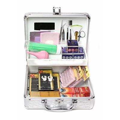 Mink False Lashes Individual Extension Eyelash Micro Brushes Glue Tools Kit Case