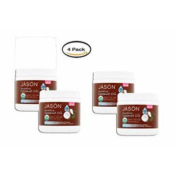PACK OF 4 - Jāsön Smoothing Virgin Coconut Oil, 15 fl oz