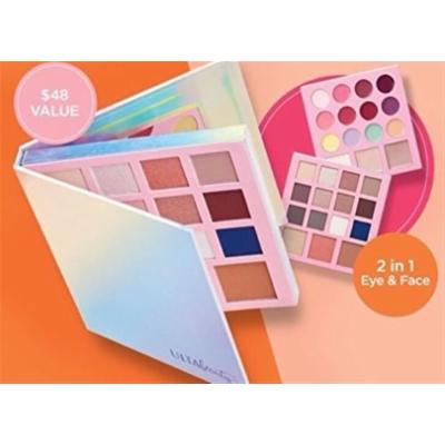 Ulta Beauty Limited Edition Face Eye Lip Palette Double Sided with 2 Mirrors