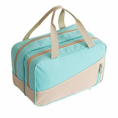 WIN Large Make Up Bag,Waterproof Nylon Toiletry Bag torage Make Up Pouch For Women Men (Green)