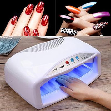 UV Nail Dryer Lamp-54W UV Nail Dryer Lamp Quick Drying Nail Gel Polish with Fan & Timer Setting US 110V