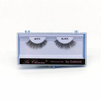 (PACK OF 6) PREMIUM 100% NATURAL HAIR EYELASHES WITH HARD BLUE CASE, #213
