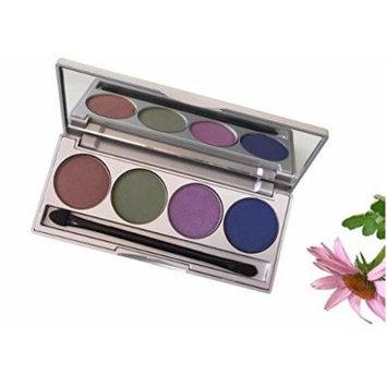 Honeybee Gardens Earth & Ocean Refillable Eye Shadow Palette | Natural Ingredients | Gluten Free, Vegan, Paraben Free
