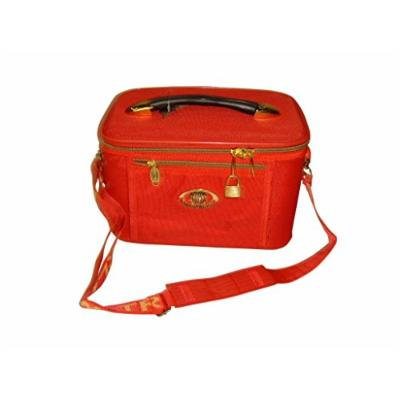 Cosmetic Case,train Case,beauty Case,travel Case,makeup with Inside Pocket (Red)