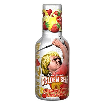 Arizona Tea Cocktail Beverage Drinks | Made with Real Sugar | 16.9 Ounce Plastic Bottles (Pack of 20) (Golden Bear Strawberry Lemonade)