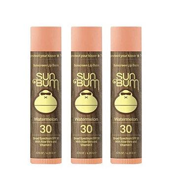 Sun Bum SPF 30 Lip Balm Watermelon 3 Pack