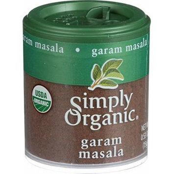 Simply Organic Garam Masala - Organic - .53 oz - Case of 6 - 95%+ Organic - Gluten Free - Dairy Free - Yeast Free - Wheat Free - Vegan
