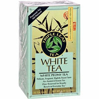 Triple Leaf Tea White Tea - 20 Tea Bags - Case of 6 - Gluten Free - Dairy Free - Yeast Free - Wheat Free -