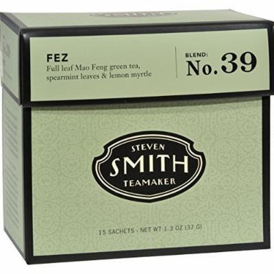 Smith Teamaker Green Tea - Fez - 15 Bags - Gluten Free - Dairy Free - Yeast Free - Wheat Free - Vegan