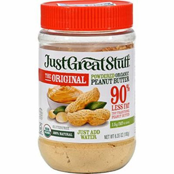 Just Great Stuff Powdered Peanut Butter - 6.43 oz - Case of 12 - Certified Gluten Free - USDA Organic