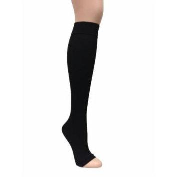 ITA-MED I H-304(O)(3) S BL Microfiber Knee Highs, Black, Small