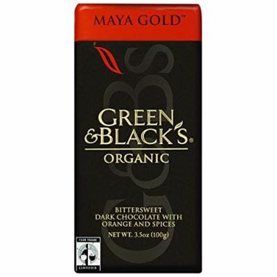 Green and Blacks Organic Chocolate Bars - Dark Chocolate - 60 Percent Cacao - Maya Gold - 3.5 oz Bars - Case of 10-95%+ Organic -