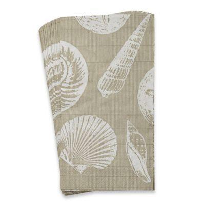 Caspari Shells and Sand 16-Count Paper Guest Towels